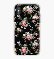 Vintage elegante Girly rosa rote modische Rosen mit Blumen iPhone-Hülle & Cover