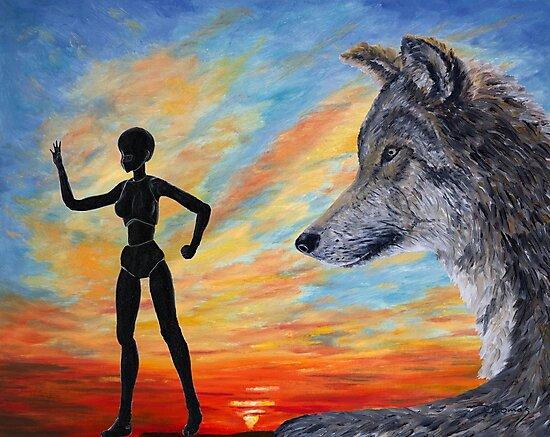 Schutz für den Wolf / Protection for the wolf von Doris Thomas