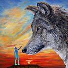 Schutzpatron Wolf / Patron wolf von Doris Thomas