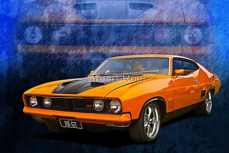 ford falcon xb 351 gt coupe posters by stuart row redbubble. Black Bedroom Furniture Sets. Home Design Ideas