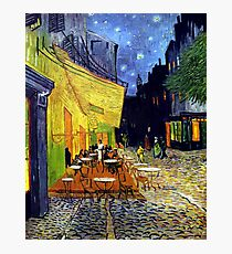 Cafe Terrace at Night Photographic Print