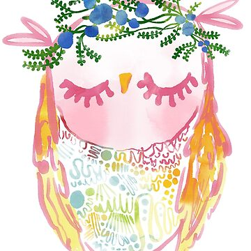 Pattern Belly Owl by annieclayton