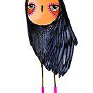 Pink Socks Owl by annieclayton