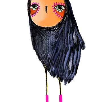 Pink Socks Owl by annieclayton