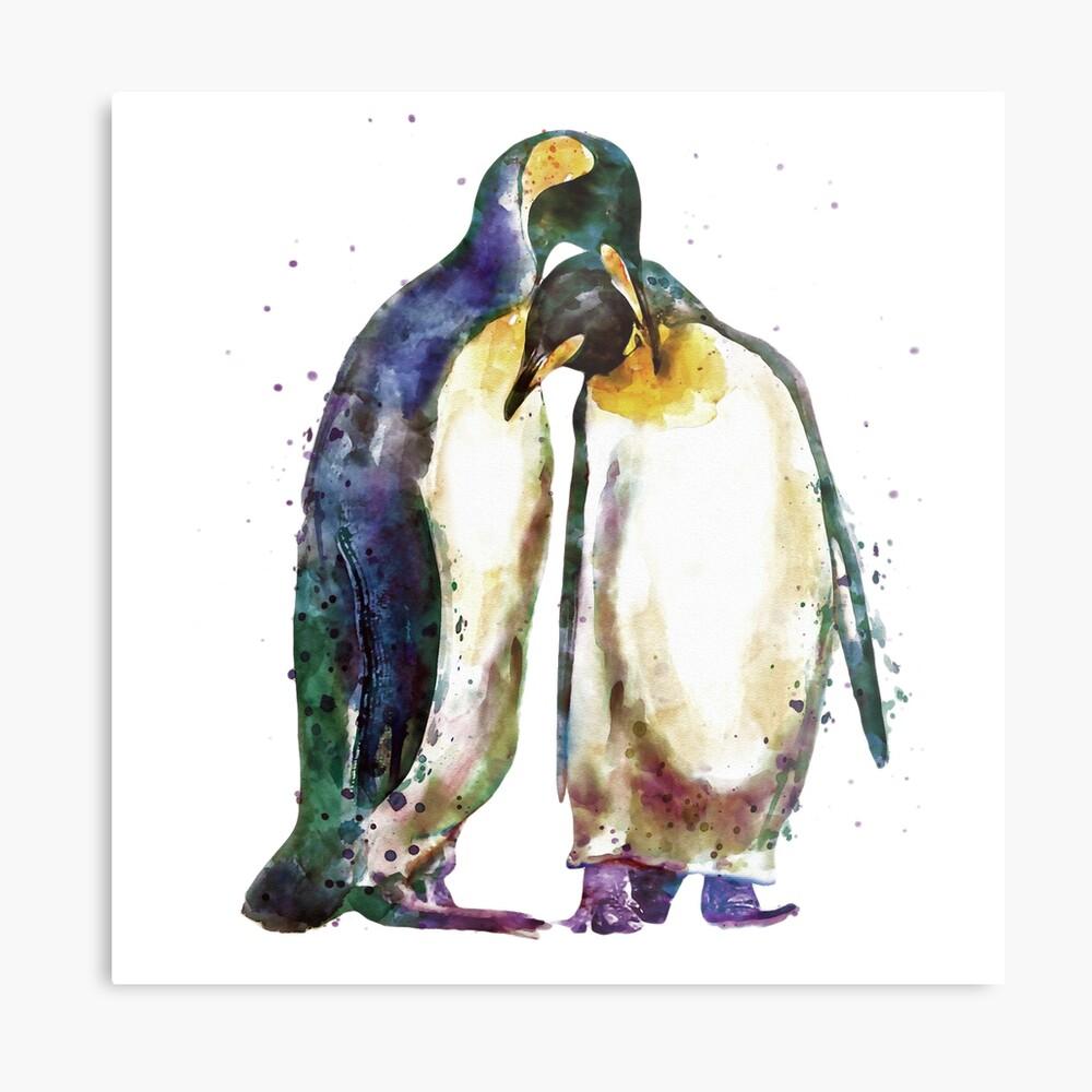 Penguin couple Metallbild