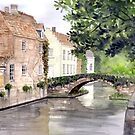 Bruges Watercolor Painting by Farida Greenfield by Farida Greenfield
