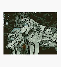 Wolves Vector Photographic Print