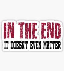 Linkin Park In The End Sticker