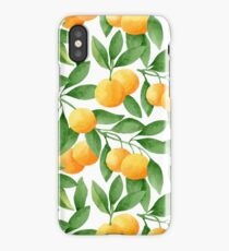 Watercolor Tangerines Pattern iPhone Case