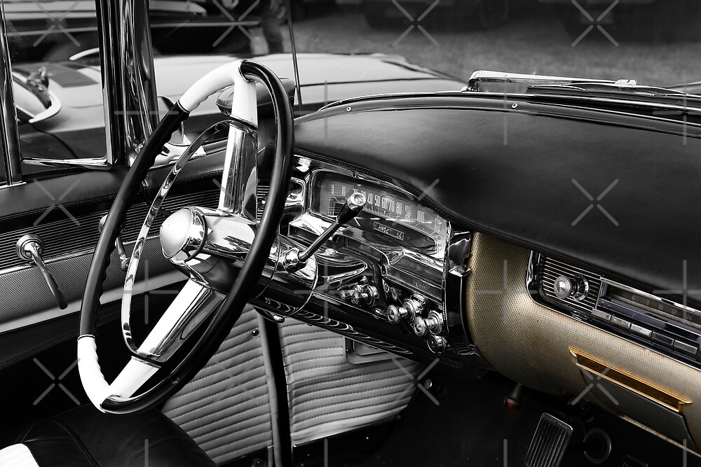 1954 cadillac, cockpit detail by hottehue