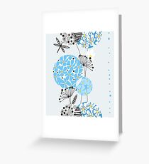 Decorative flowers in circles Greeting Card