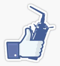Facebook Like RC Sticker
