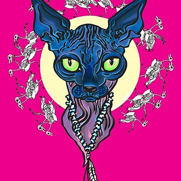 blue cat by aligee