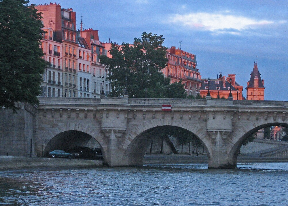 Twilight on the River Seine by Josette21
