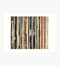 Klassische Rock Vinyl-Schallplatten Kunstdruck