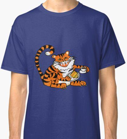 Tiger tea time - Original Linocut by Francesca Whetnall Classic T-Shirt