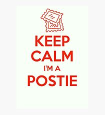KEEP CALM, I'M A POSTIE Photographic Print