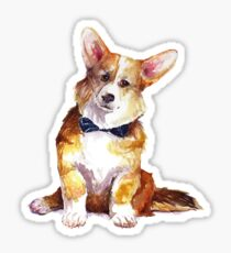 Sophisticated Corgi Sticker