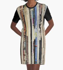 Classic Rock Vinyl Records  Graphic T-Shirt Dress