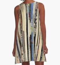 Classic Rock Vinyl Records  A-Line Dress