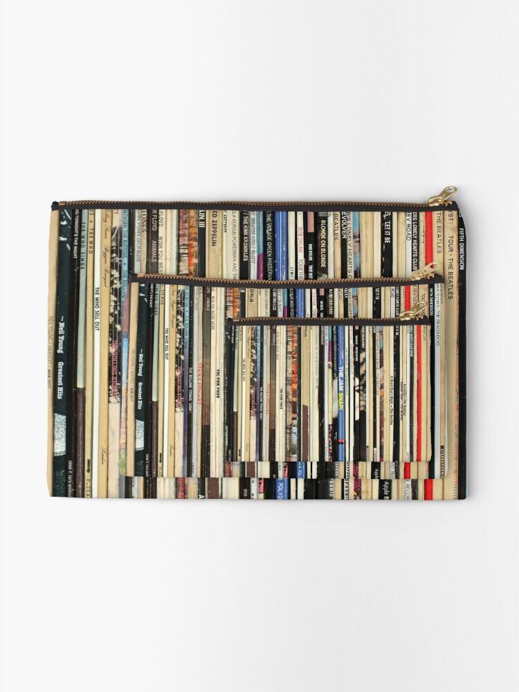 Alternate view of Classic Rock Vinyl Records  Zipper Pouch
