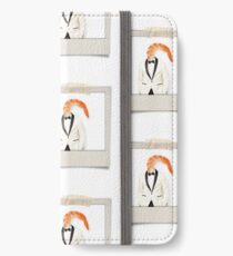 polaroid of a classy shrimp in a dinner jacket iPhone Wallet/Case/Skin