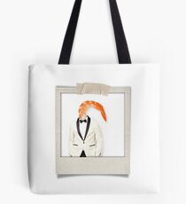 polaroid of a classy shrimp in a dinner jacket Tote Bag