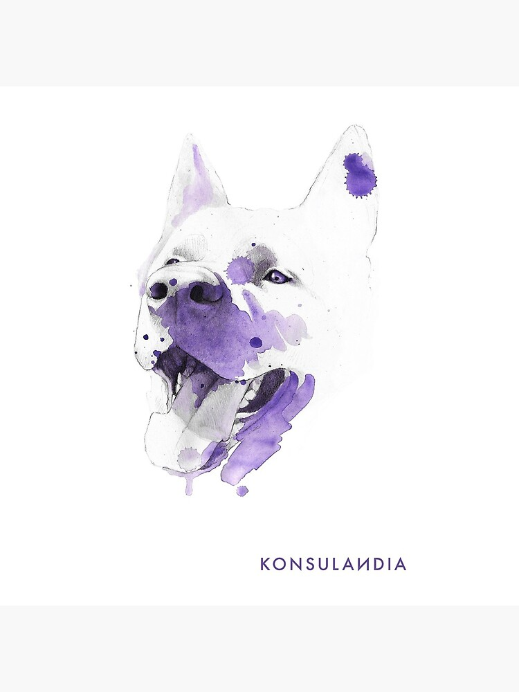 Purple happy dog de konsulandia