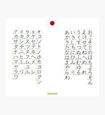 Syllabaires Japonais Photographic Print