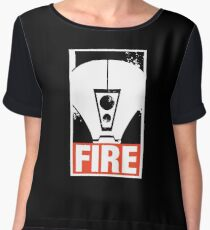 Warhammer 40K Inspired Tau Fire Warrior - FIRE Women's Chiffon Top