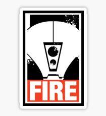 Warhammer 40K Inspired Tau Fire Warrior - FIRE Sticker