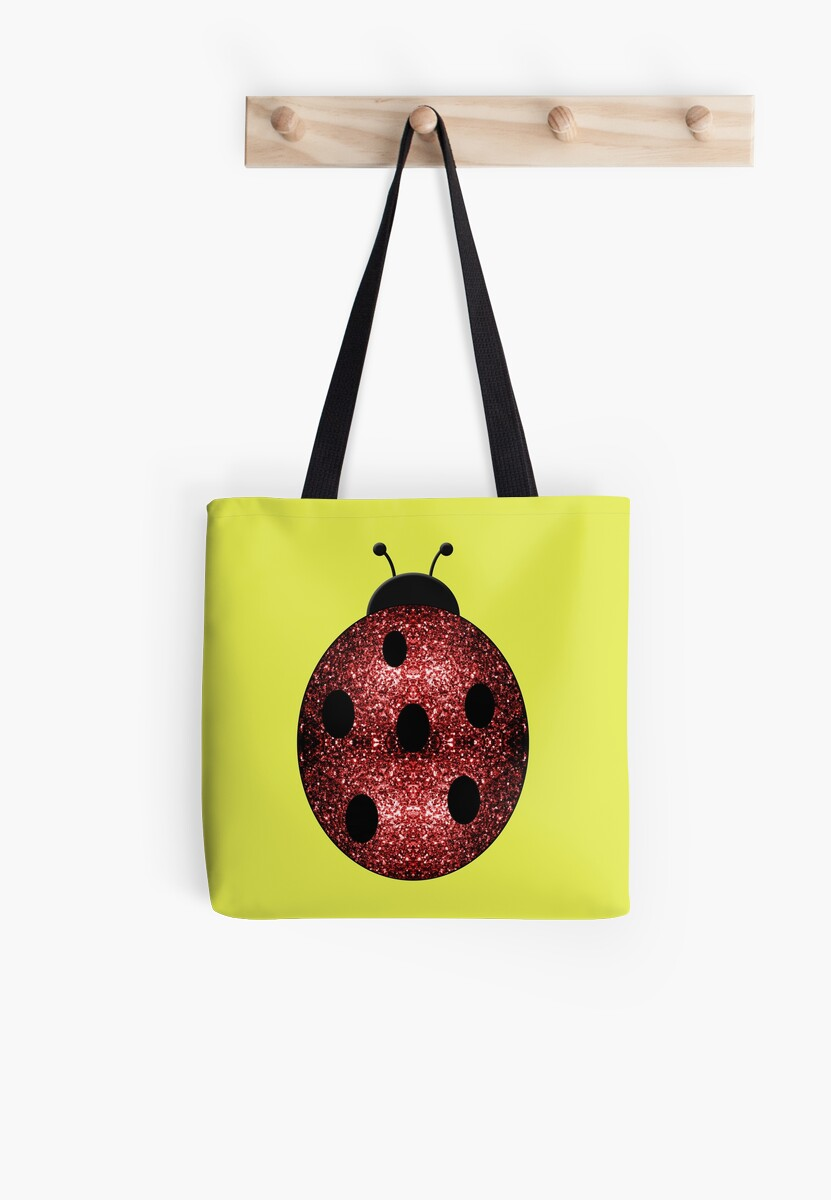 Beautiful Sparkling red sparkles Ladybird Ladybug by PLdesign