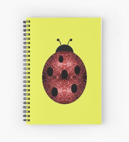 Beautiful Sparkling red sparkles Ladybird Ladybug Spiral Notebook