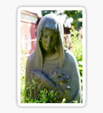 Grieving woman statue at Novodevichy Cemetery, Moscow, Russia  Sticker