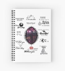 Malec - season 2 quotes Spiral Notebook