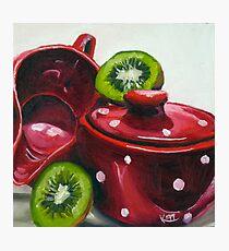 Kiwi and Kitchenware Photographic Print