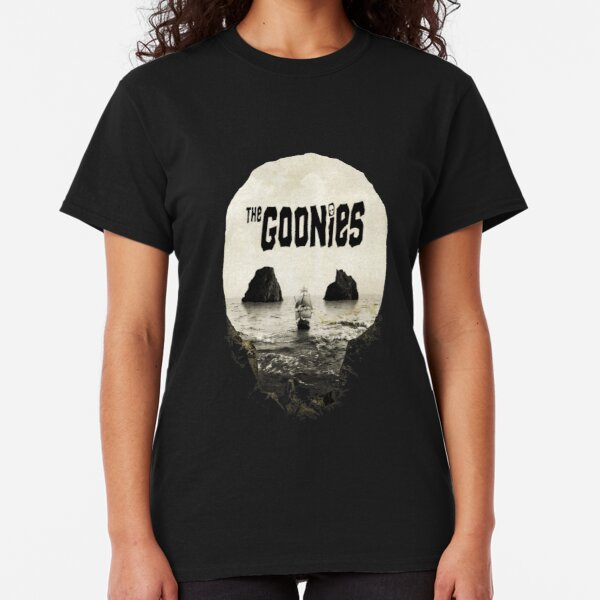 The Goonies Damen T-Shirt Film Chunk Mund Faultier Piraten Klassisch Kult