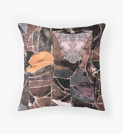 leather patches Throw Pillow