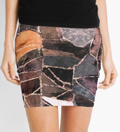 leather patches Mini Skirt
