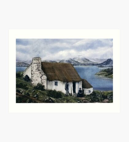 """Irish Cottage"" Art Print"