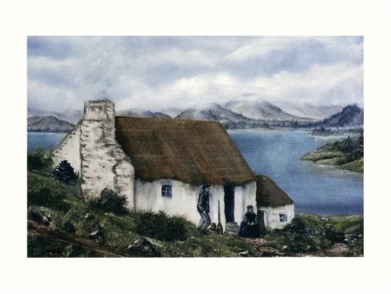 Irish Cottage By Avril Brand