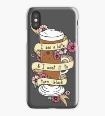 I See a Latte... Cute Coffee Illustration iPhone Case/Skin