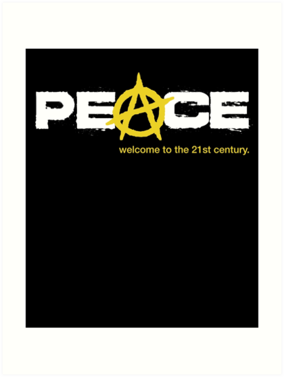 Peace With Anarchy A Symbol Art Prints By Grafikdesigner Redbubble