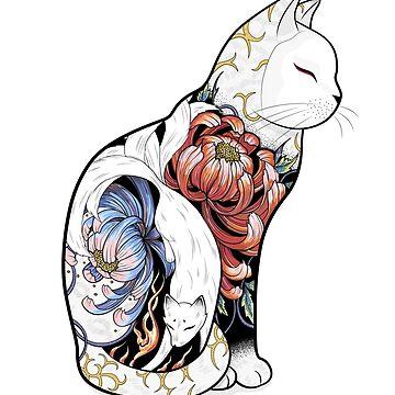 Kitsune Katze Tattoo von runcatrun