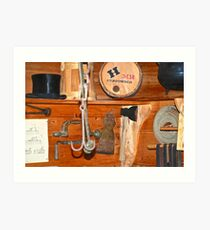 Gunpowder And A Tophat On A Shelf Art Print