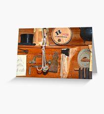 Gunpowder And A Tophat On A Shelf Greeting Card
