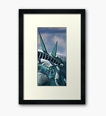 In The Ear Shot Of Lady Liberty Framed Print