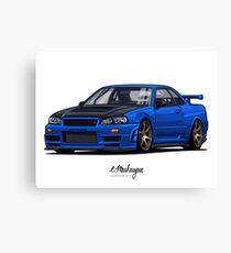 Street Monstr. Skyline R34 GTR Canvas Print