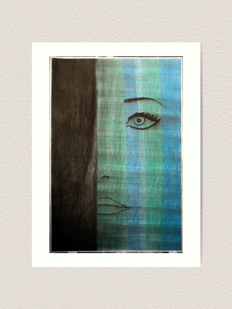 Alternate view of mod azure Art Print