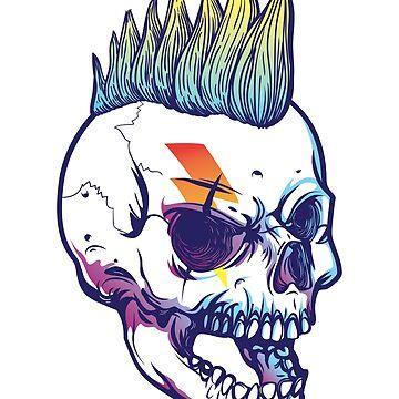 Punk Skull Graphic Shirt by sakharoth